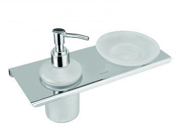Soap dish with Liquid soap dispenser