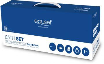 "Bath set- Towel bar 600mm (24"")+ hygeine tray+ Glass bracket+ Towel ring + Robe hook"