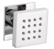 Body jet shower exposed type 50 x 50 mm in square shape with wall flange