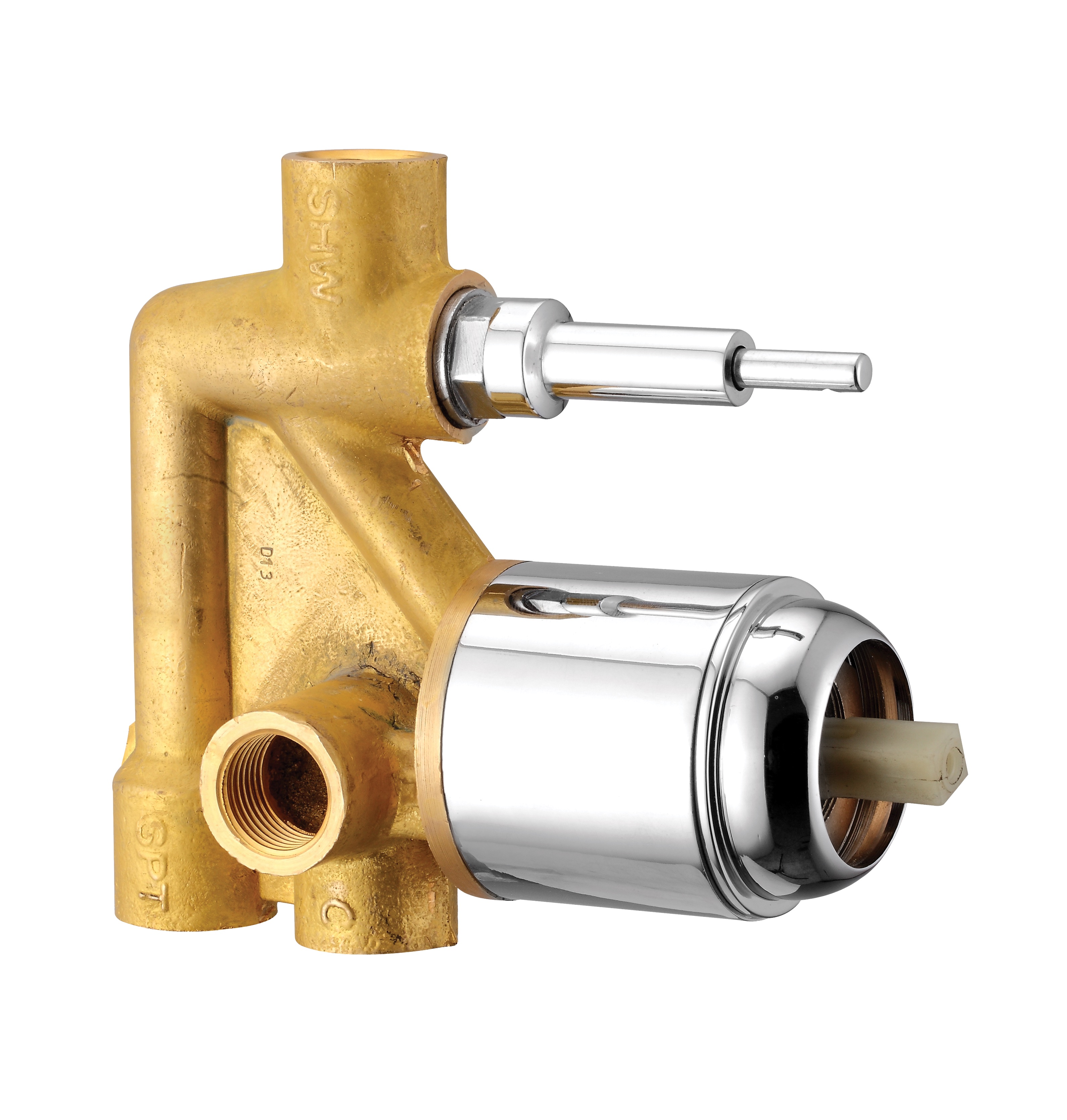 Body Part For Single Lever Concealed Divertor Three Inlet