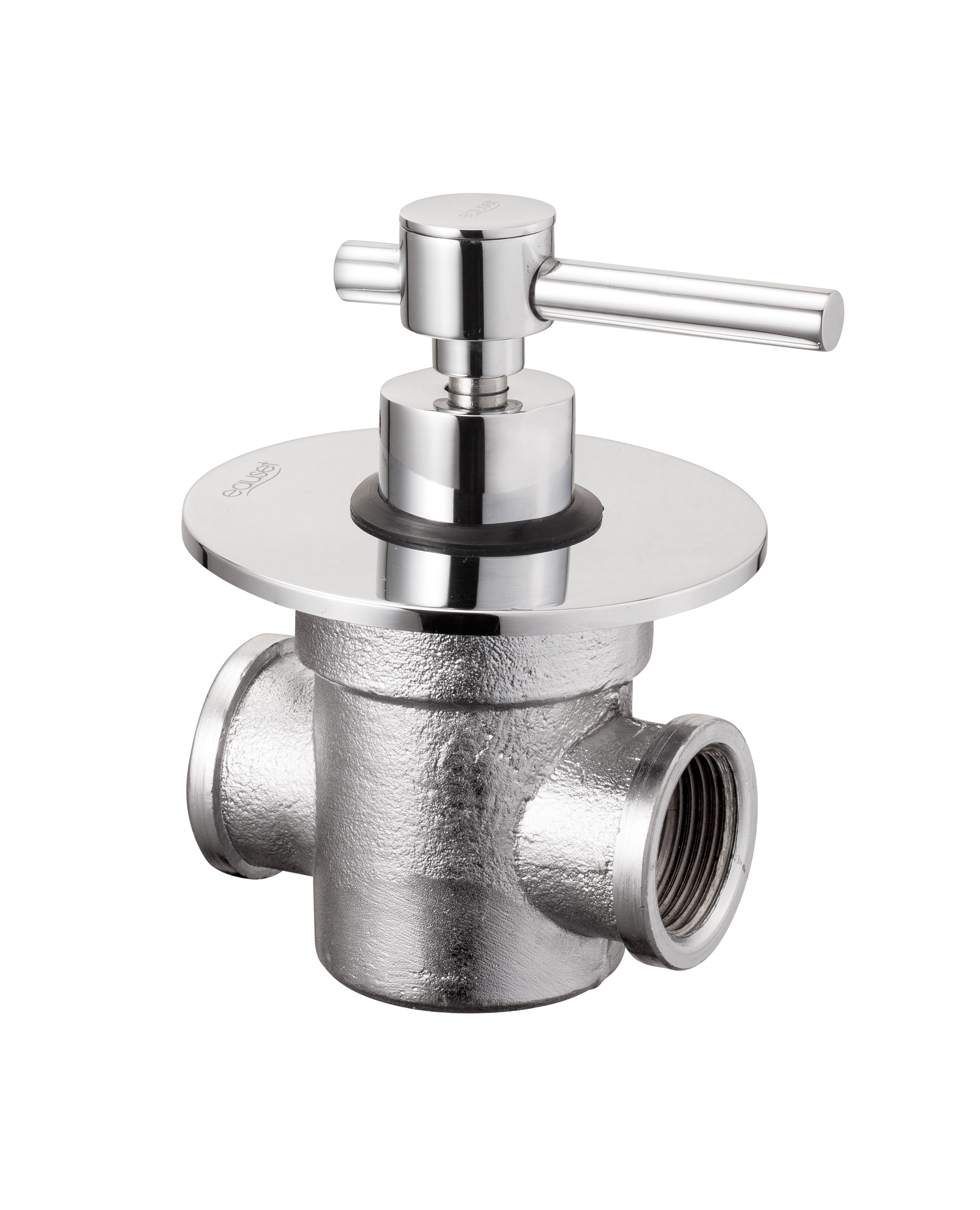Concealed full Flow stop Cock 25mm with Wall Flange