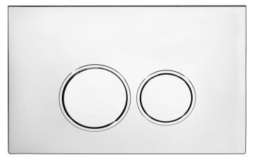 Flush Control Plate with Round Button