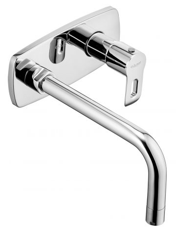 Single Concealed Stop Cock Consisting With Exposed Part ( Lever , Flange , Sleeve & Spout ) For Basin.