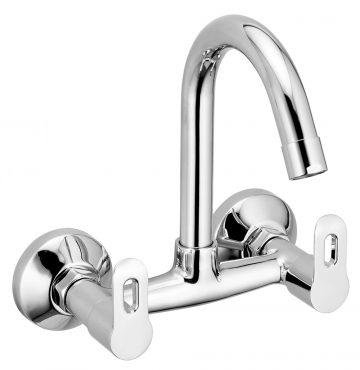 Sink Mixer With Swinging Spout Wall Mounted With Wall Flange