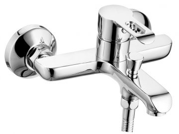 Single Lever Wall Mixer With Provision For Hand Shower With Wall Flange
