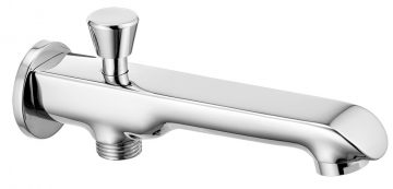 Bath Spout With Provision For Hand Shower With Wall Flange