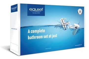 Bath Set - Single Lever Basin Mixer + Bath Tub Spout + Single Lever Cons Divertor with Upper Part + Angle Cock- 03 Pcs + Shower With Arm