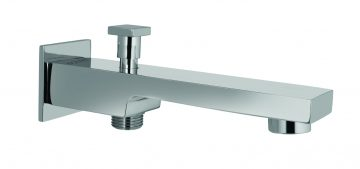 Bath Spout With Provision For Hand Showers With Wall Flange.