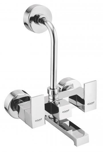 Bath Mixer With Provision For Over Head Shower With L-Bend (115 mm) With Wall Flange