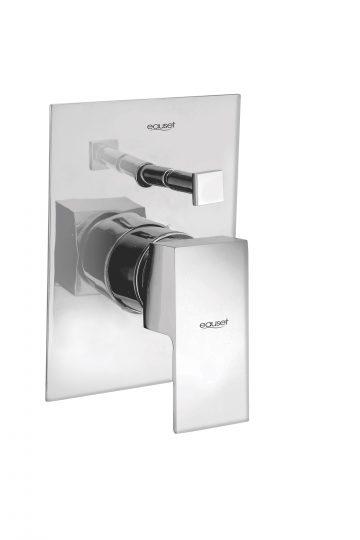 Lever & Flange For Single Lever Concealed Divertor With 3 Inlet (2 Cold+1 Hot) For  Bath & Over Head Shower System