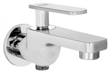 Two Way Bib Cock In Single Control System With Wall Flange