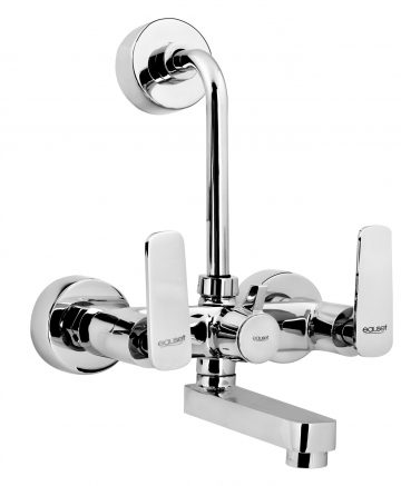 Bath Mixer With Provision For Over Head Shower With L-Bend (115mm) With Wall Flange