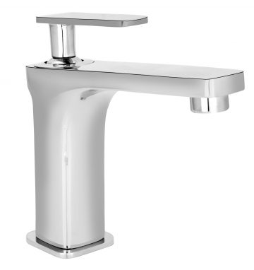 Single Lever Basin Mixer without Pop-Up Waste System with 450mm Braided Hose