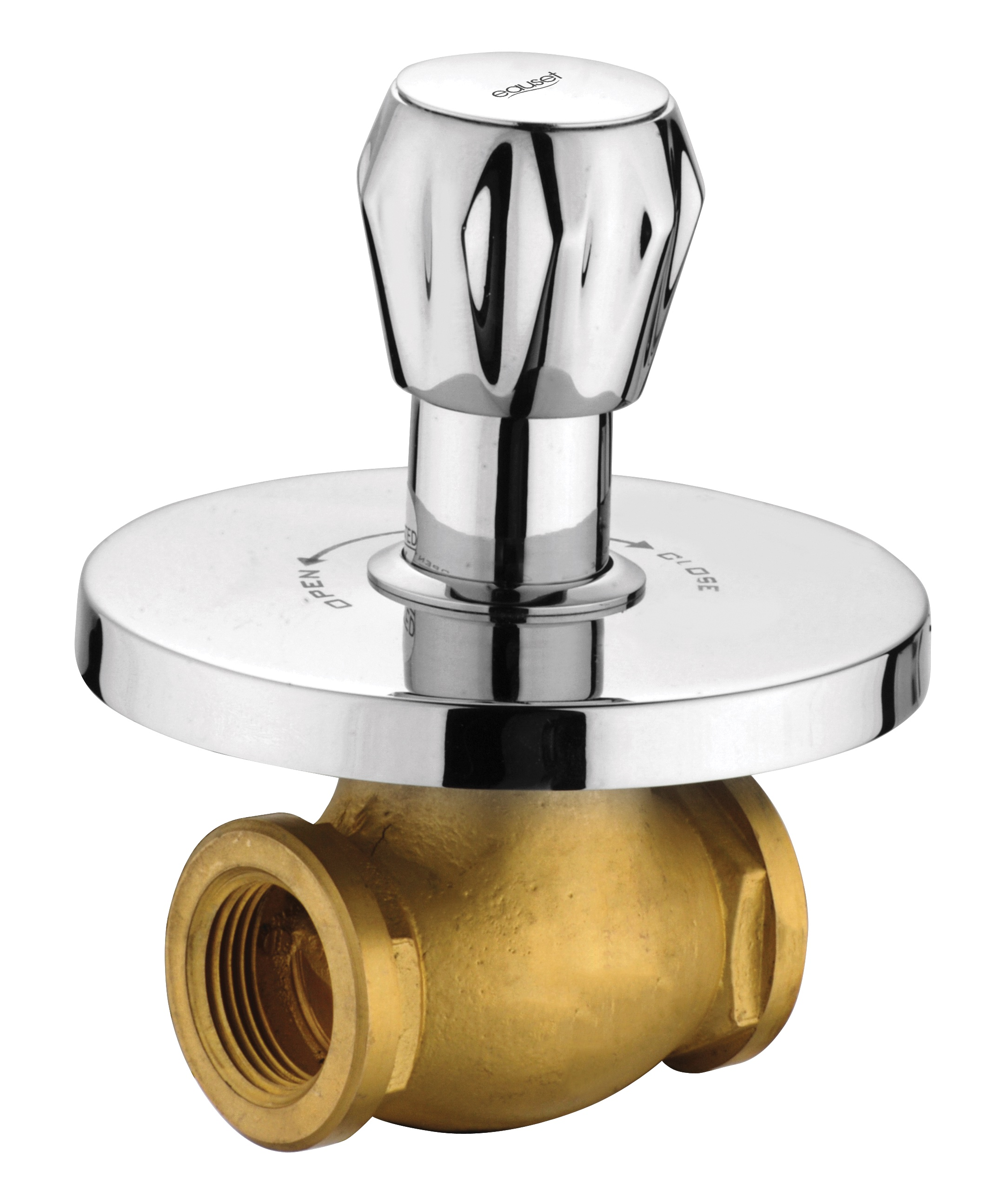 Concealed Stop Cock 25mm With Wall Flange
