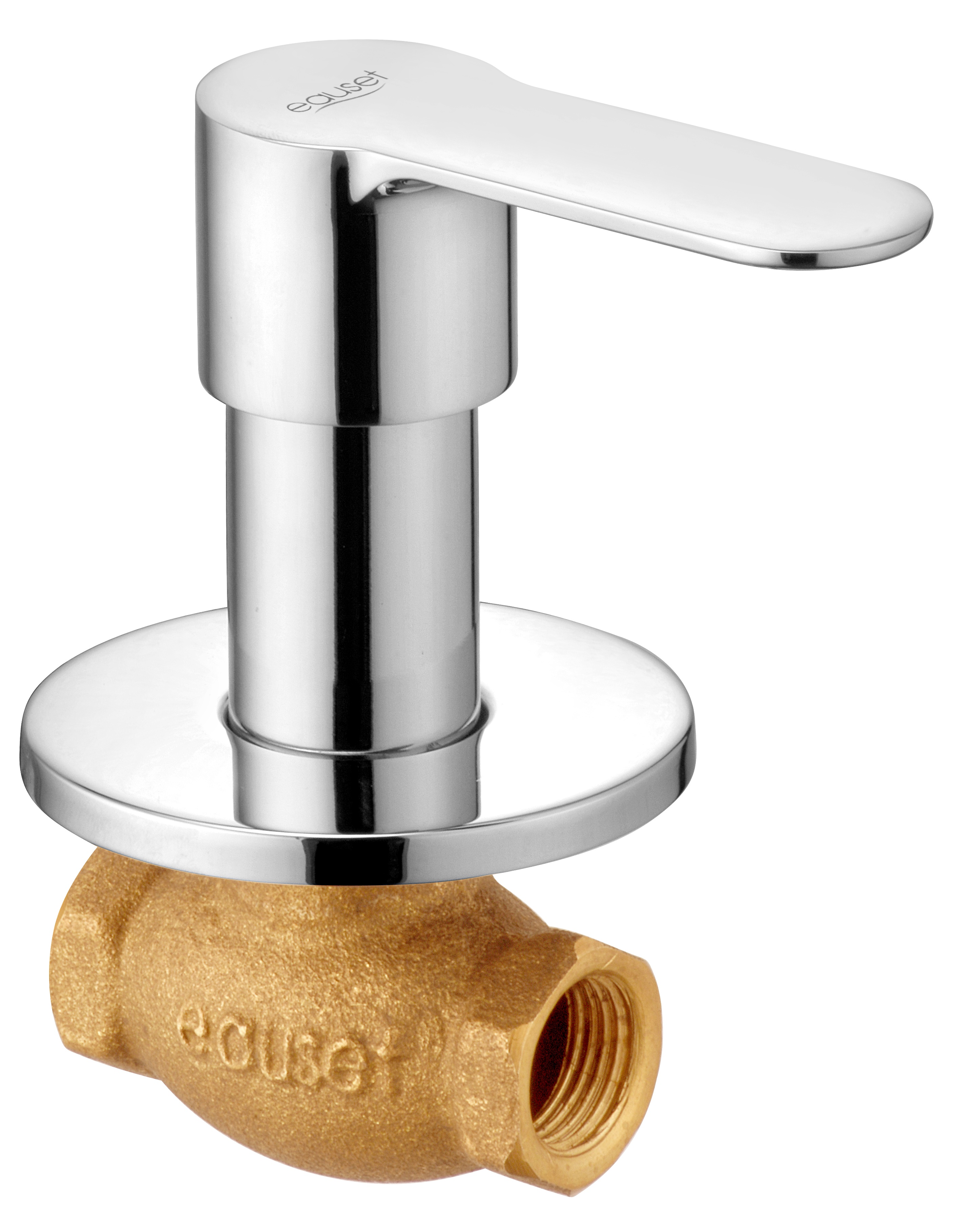 Concealed Stop Cock 15mm With Wall Flange.