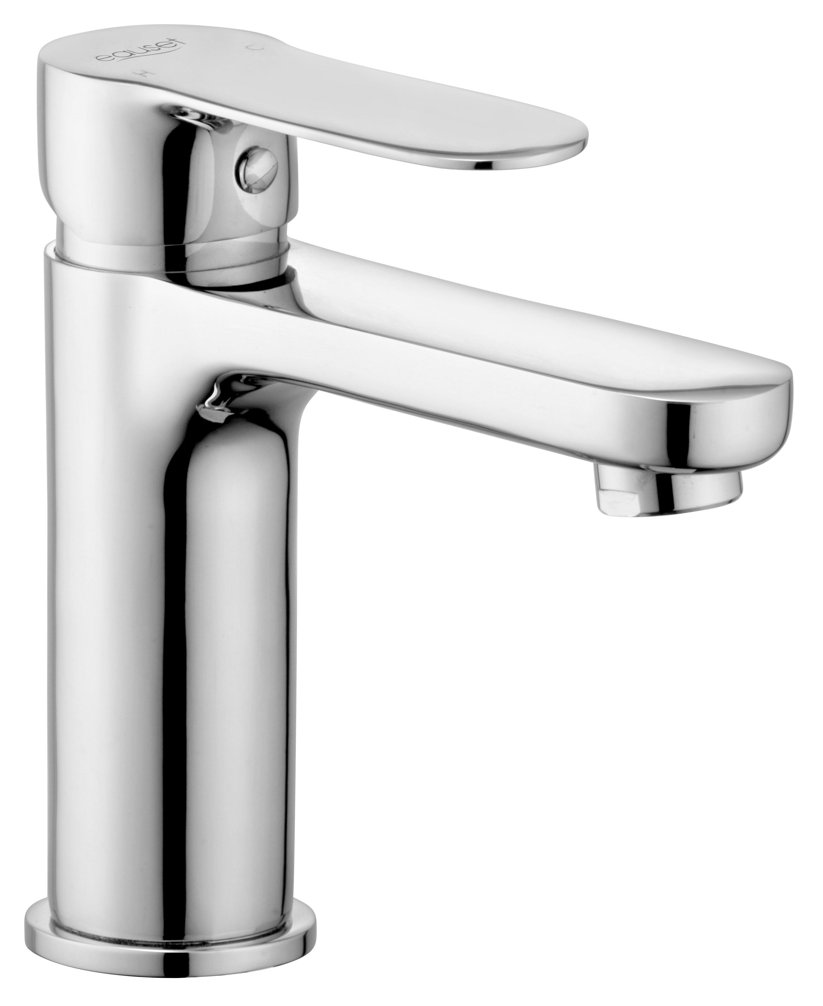 Single Lever Basin Mixer without Pop Up Waste System With 450mm Braided Hose