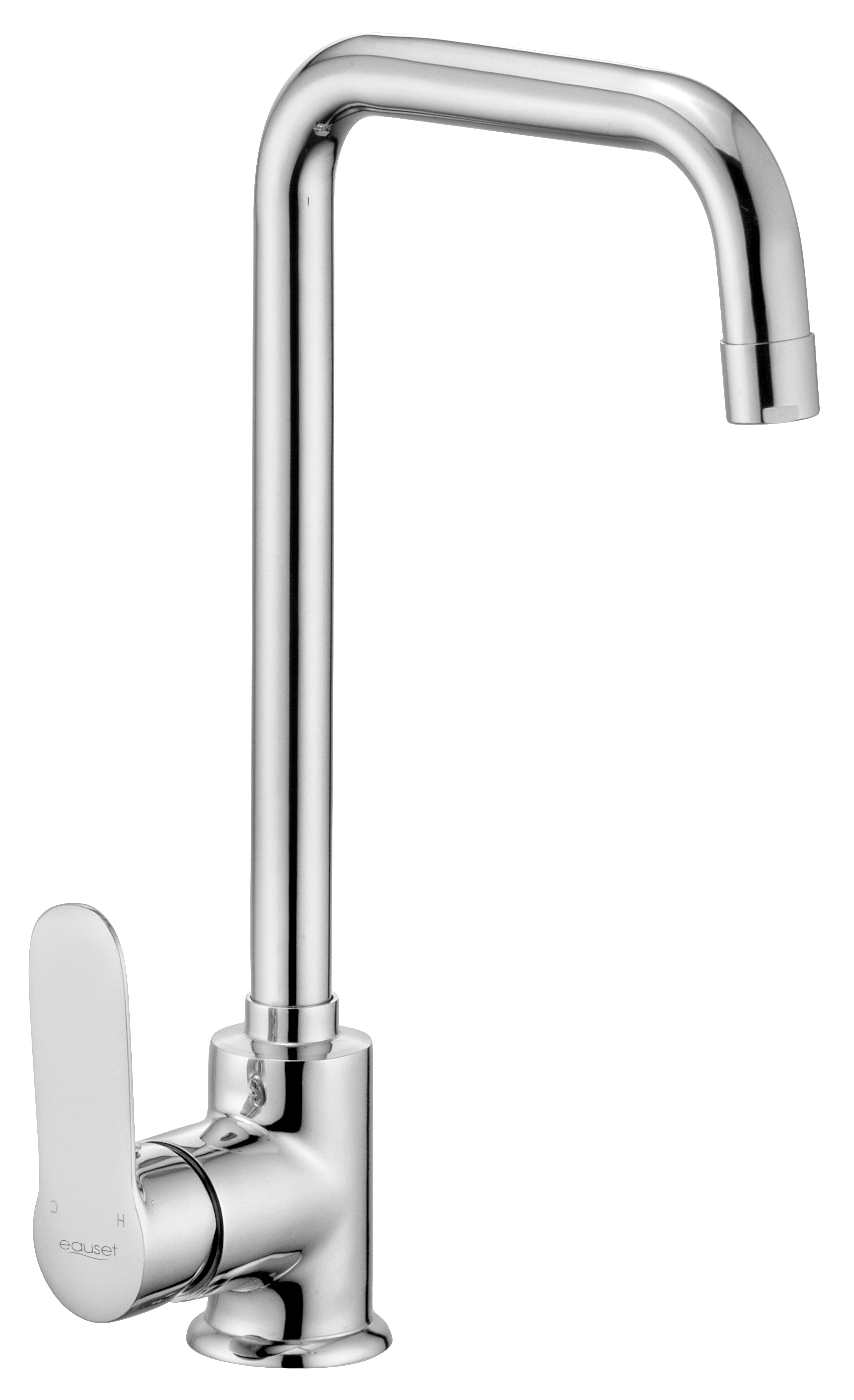 Single Lever Sink Mixer With Swinging Spout (Tall ) Table Mounted With 450mm Braided Hose