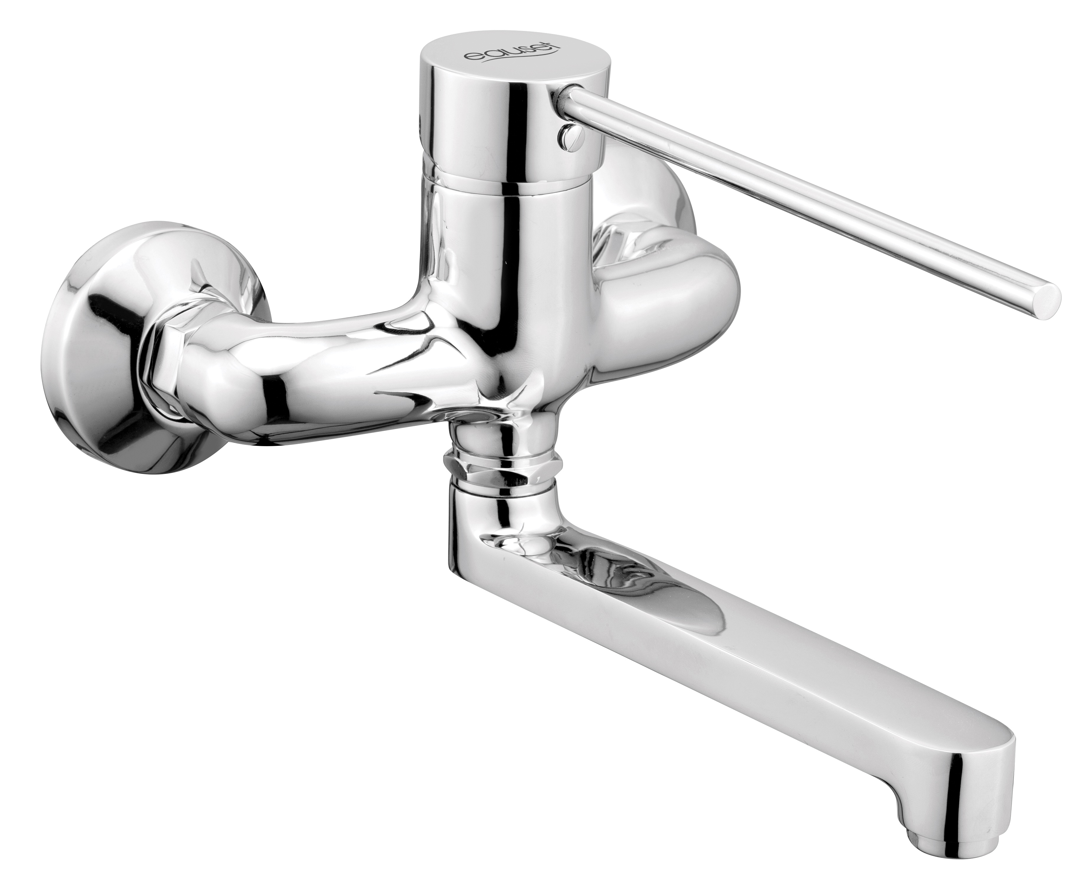 Single Lever Surgical Sink Mixer With Swinging Spout Wall Mounted