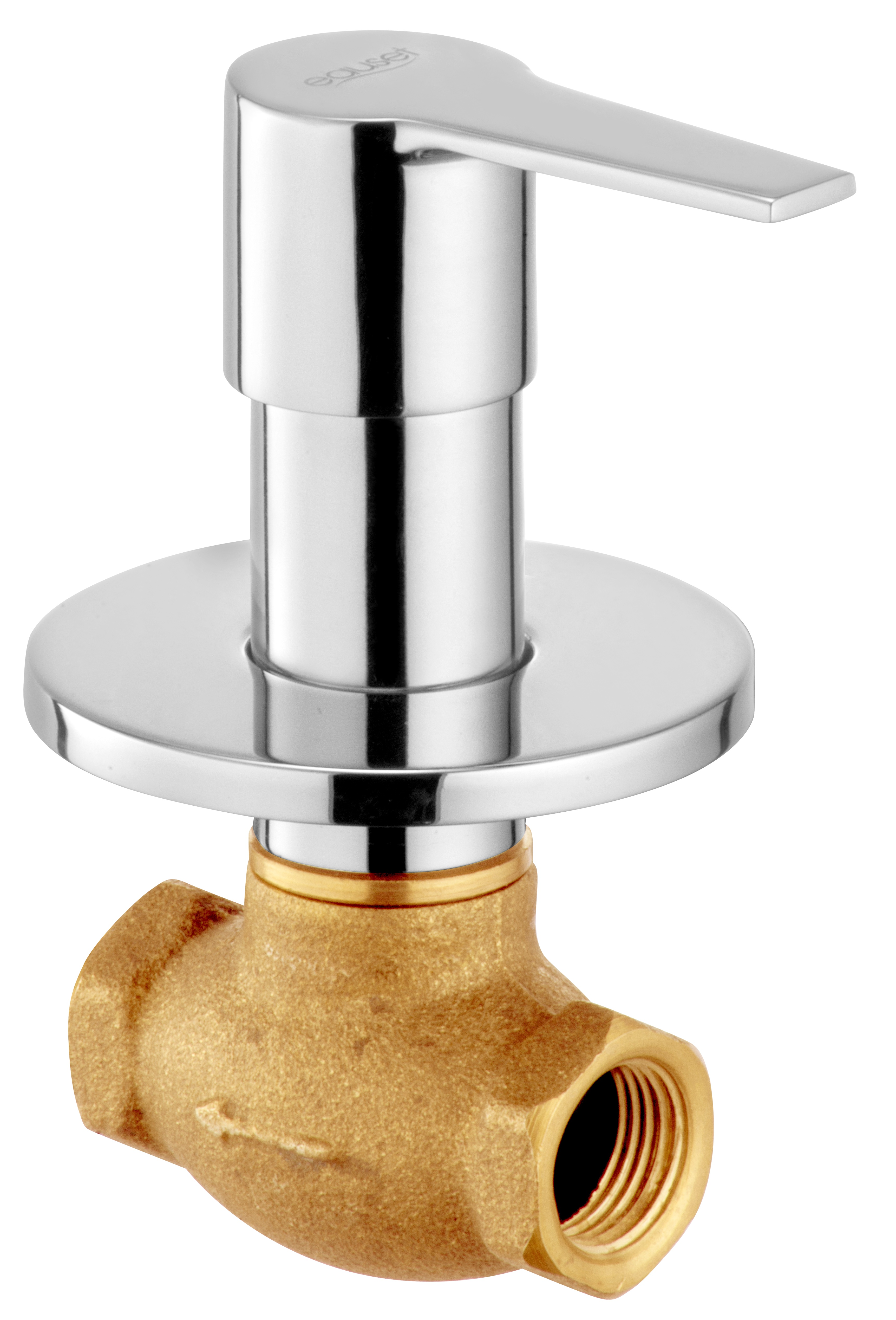 Concealed Stop Cock 15mm With Wall Flange