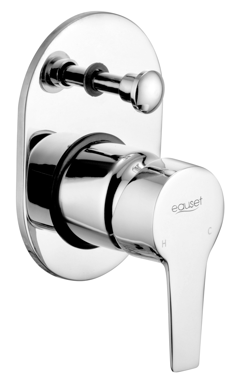 Lever & Flange For Single Lever Concealed Divertor High Flow For Bath &  Over Head Shower System