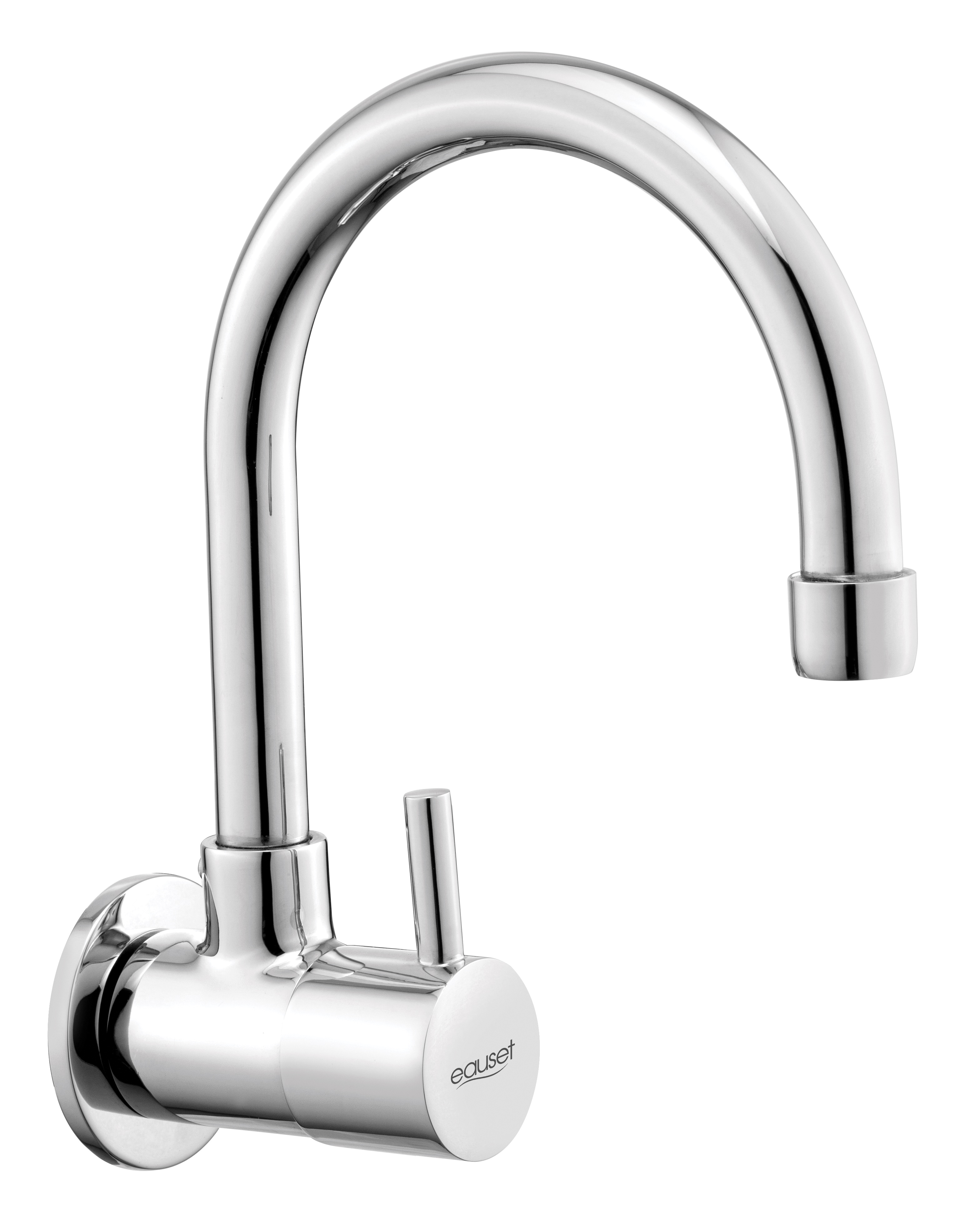 Sink Cock Wall Mounted With Swinging Spout (Small) With Wall Flange