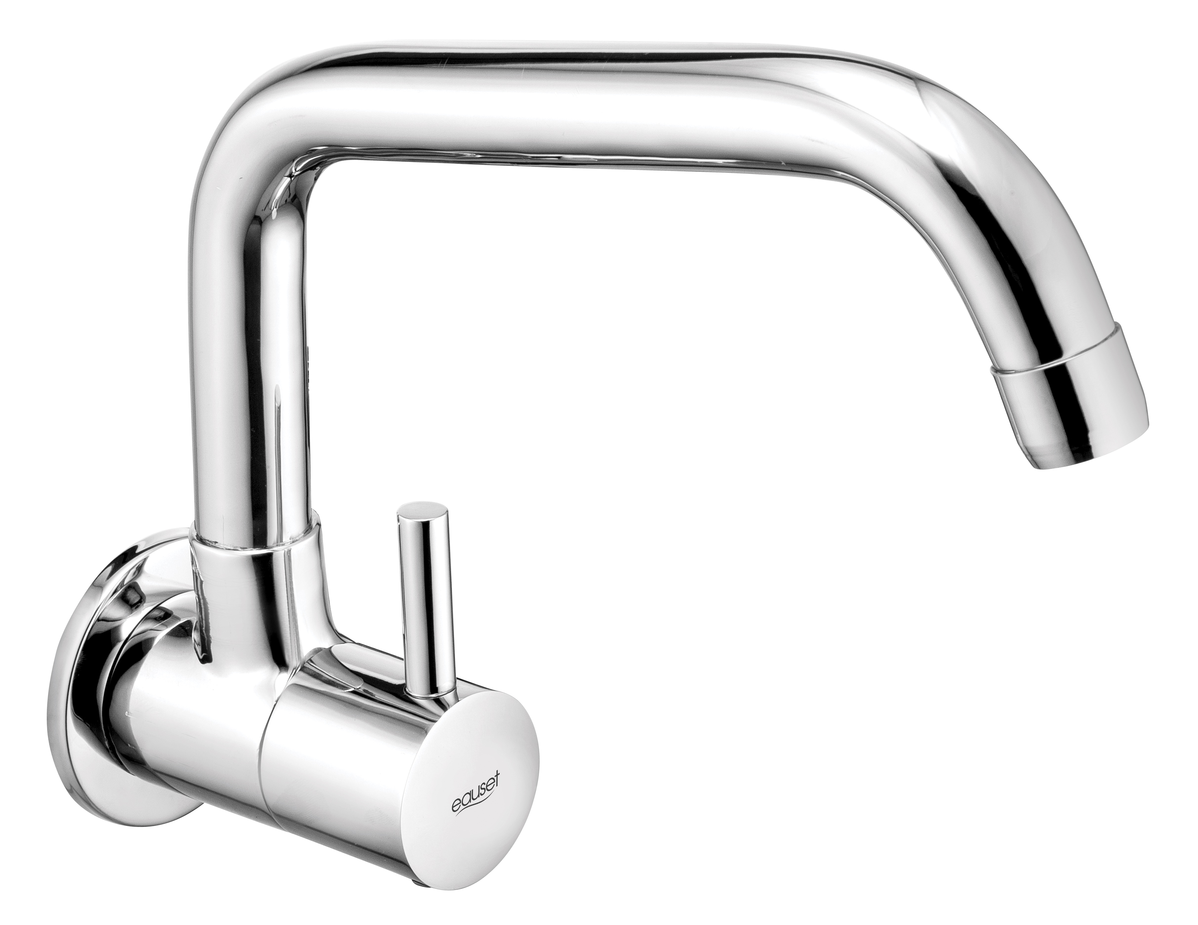 Sink Cock With Swinging Spout (Extended ) Wall Mounted With Wall Flange