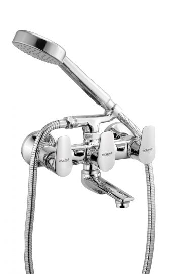 Bath Mixer With Provision For Hand Shower Arrangement With Crutch
