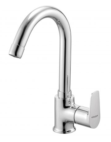 Sink Cock With Swinging Spout Table Mounted With Flange