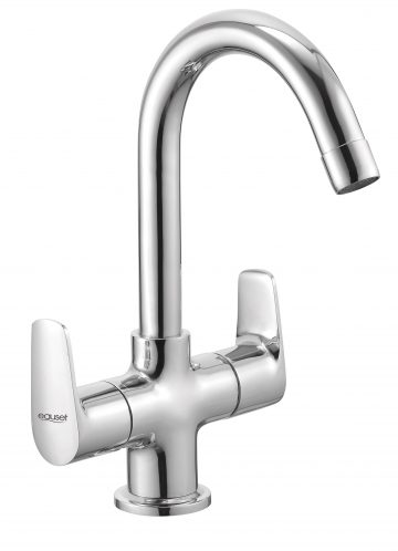 Sink Mixer With Swinging Spout Table Mounted With 450mm Braided