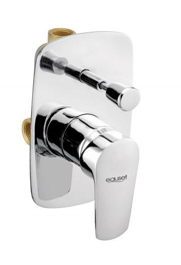 Lever And Flange For Single Lever Concealed Divertor For Bath & Overhead Shower System