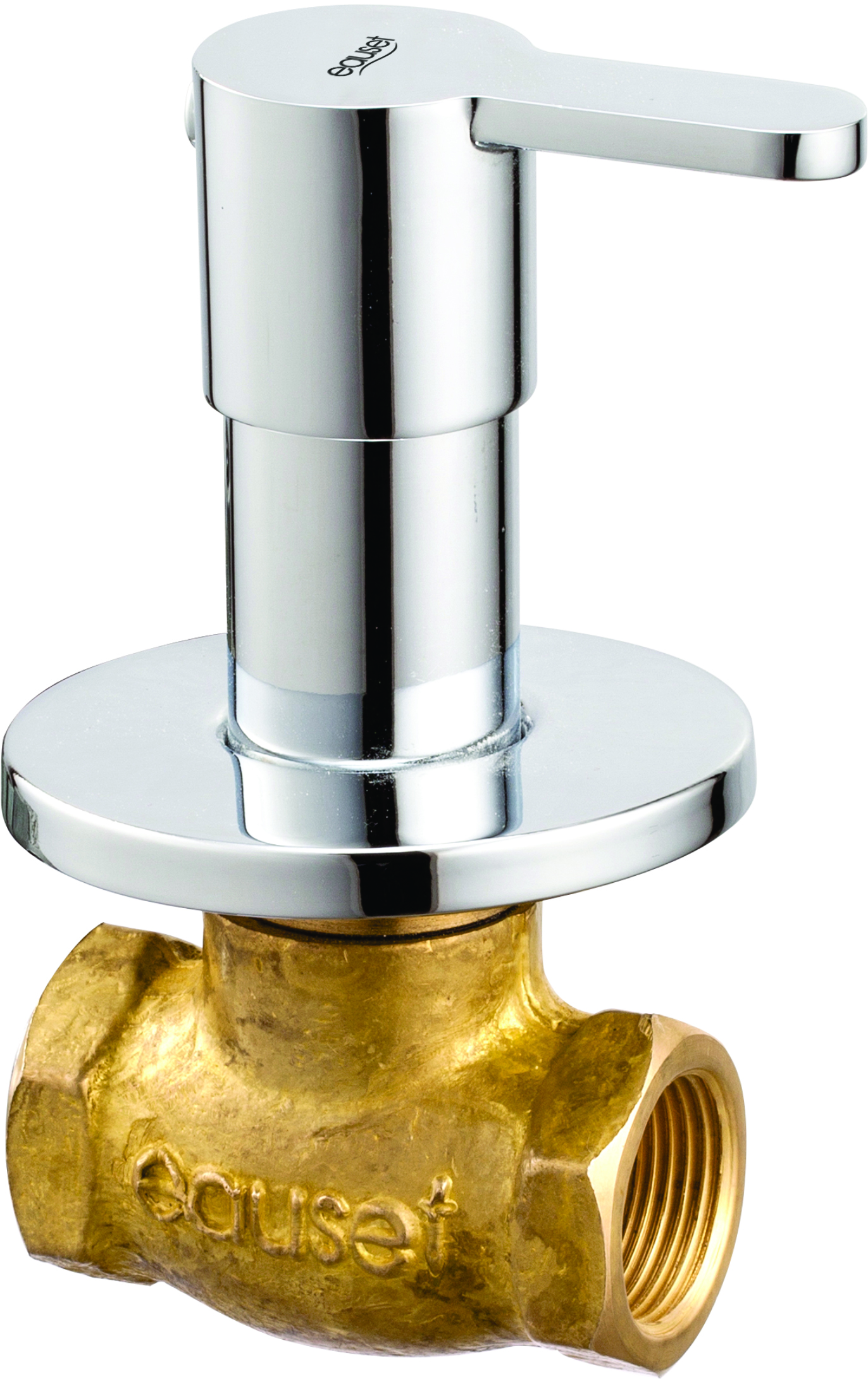 Concealed Stop Cock 20mm With Wall Flange