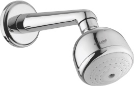 Over - Head Shower In Single Function - Ø70 mm With Light Arm